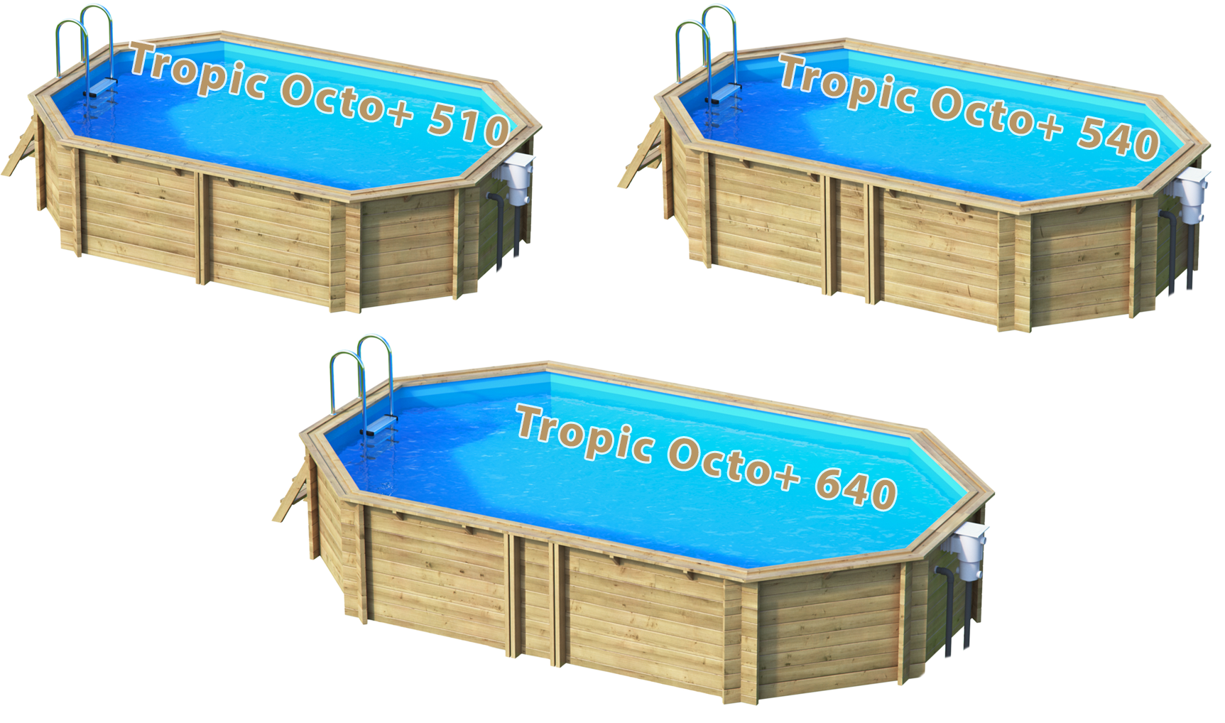 Pool Aus Massivholz Tropic Octo Sunday Pools Onlineshop
