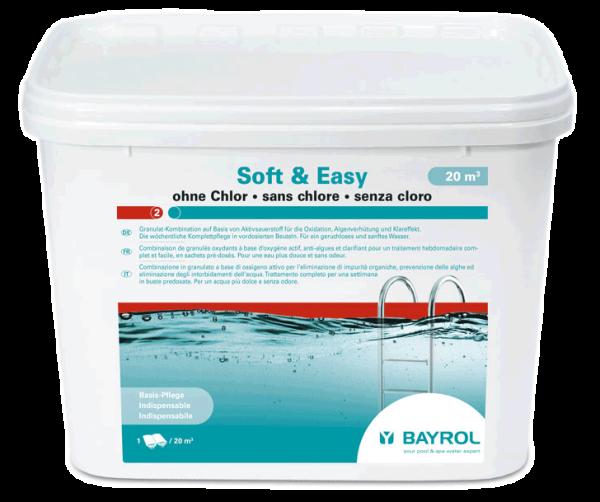 Wasserpflege mit Aktivsauerstoff im praktischen Doppelbeutel von Bayrol: Soft & Easy