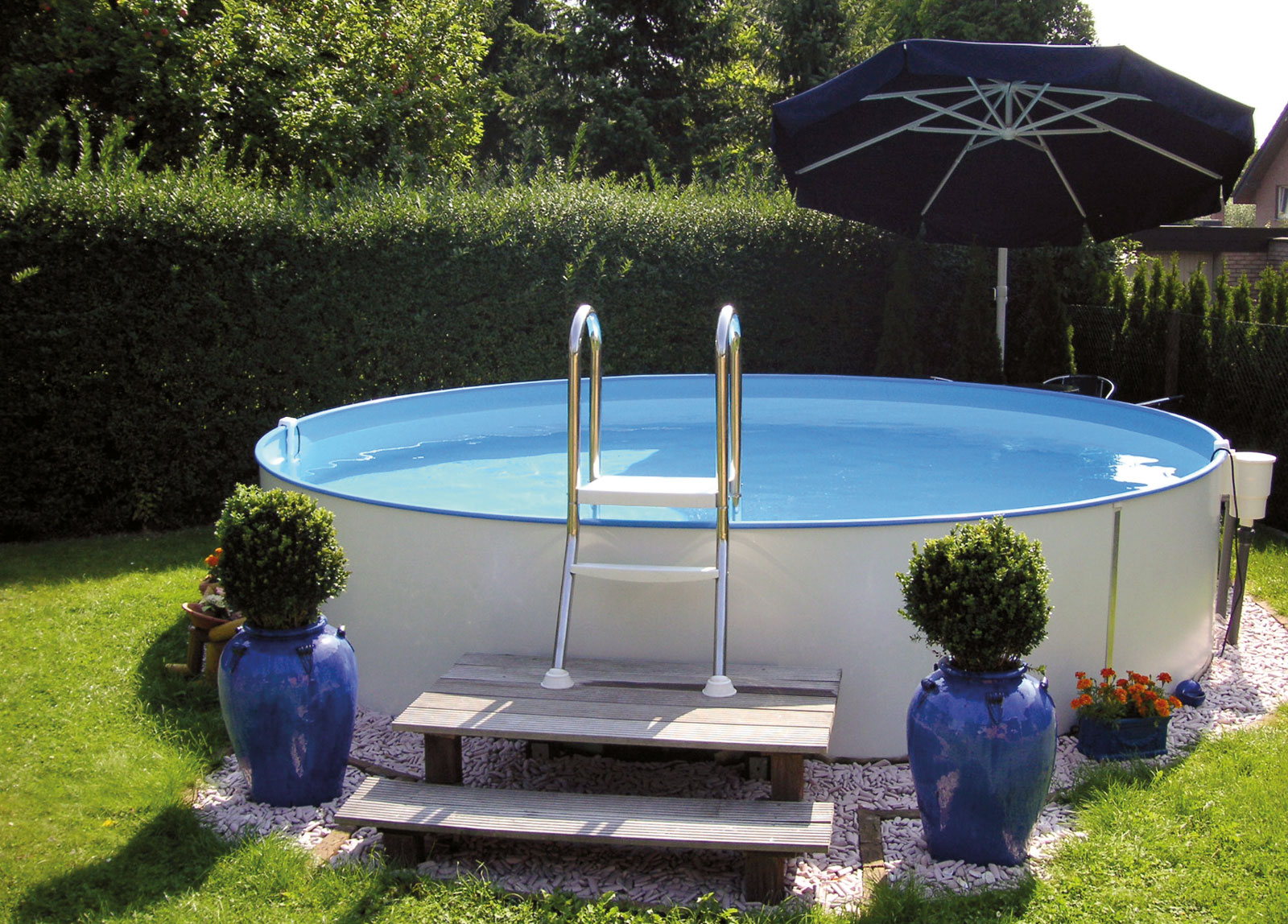 Stahlwandpool komplettset rund sunday pools onlineshop for Stahl pool rund