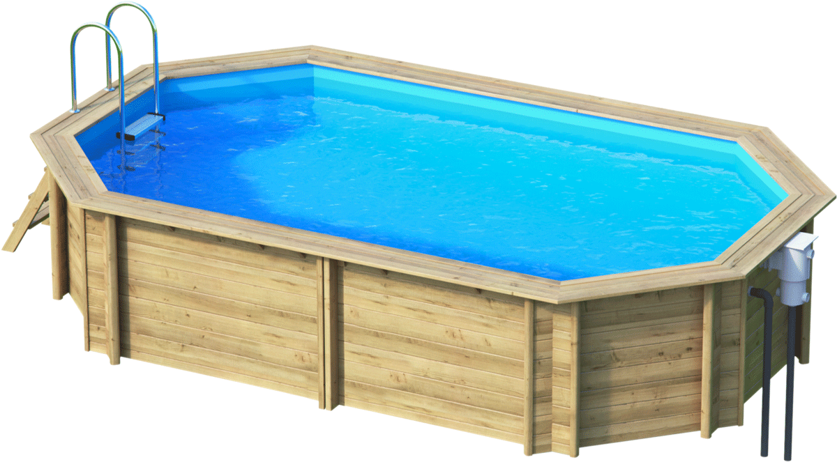 Holzbecken oval weva octo sunday pools onlineshop for Holzpools komplettset
