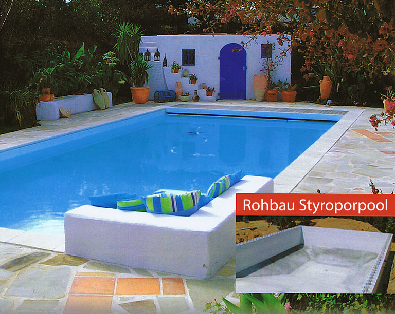 styropor pool im eigenbau sunday pools onlineshop. Black Bedroom Furniture Sets. Home Design Ideas