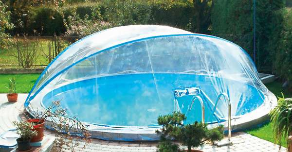 Pool berdachung cabrio dome sunday pools onlineshop for Dome de piscine occasion