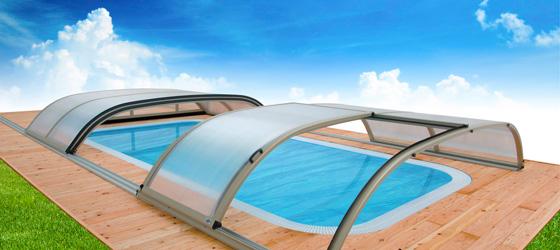 Pool berdachungen und poolabdeckungen sunday pools onlineshop - Stahlwandpool eckig ...