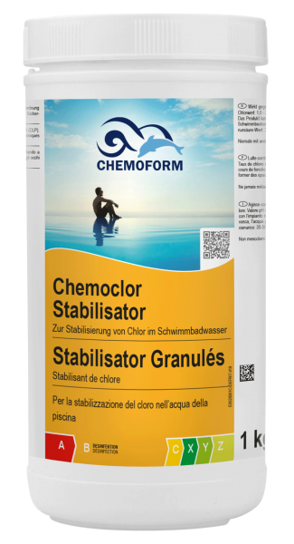 1kg Cyanursäure - Chlor-Stabilisator für private Pools