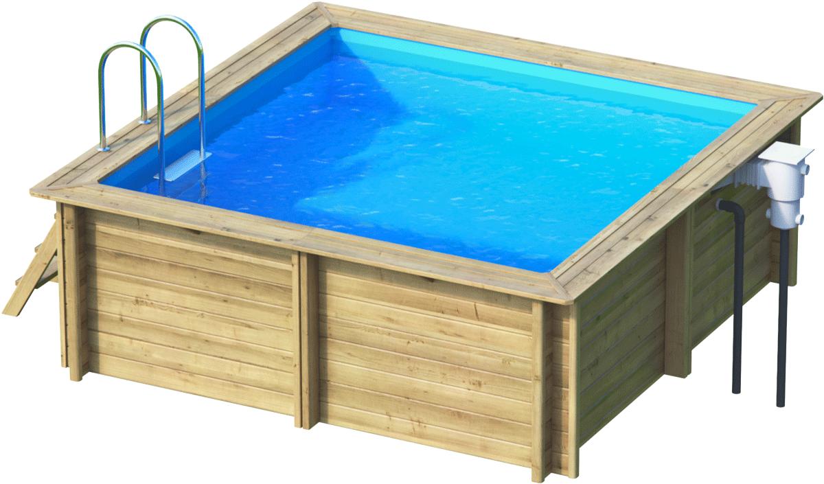 massivholzpool rechteck weva sunday pools onlineshop. Black Bedroom Furniture Sets. Home Design Ideas