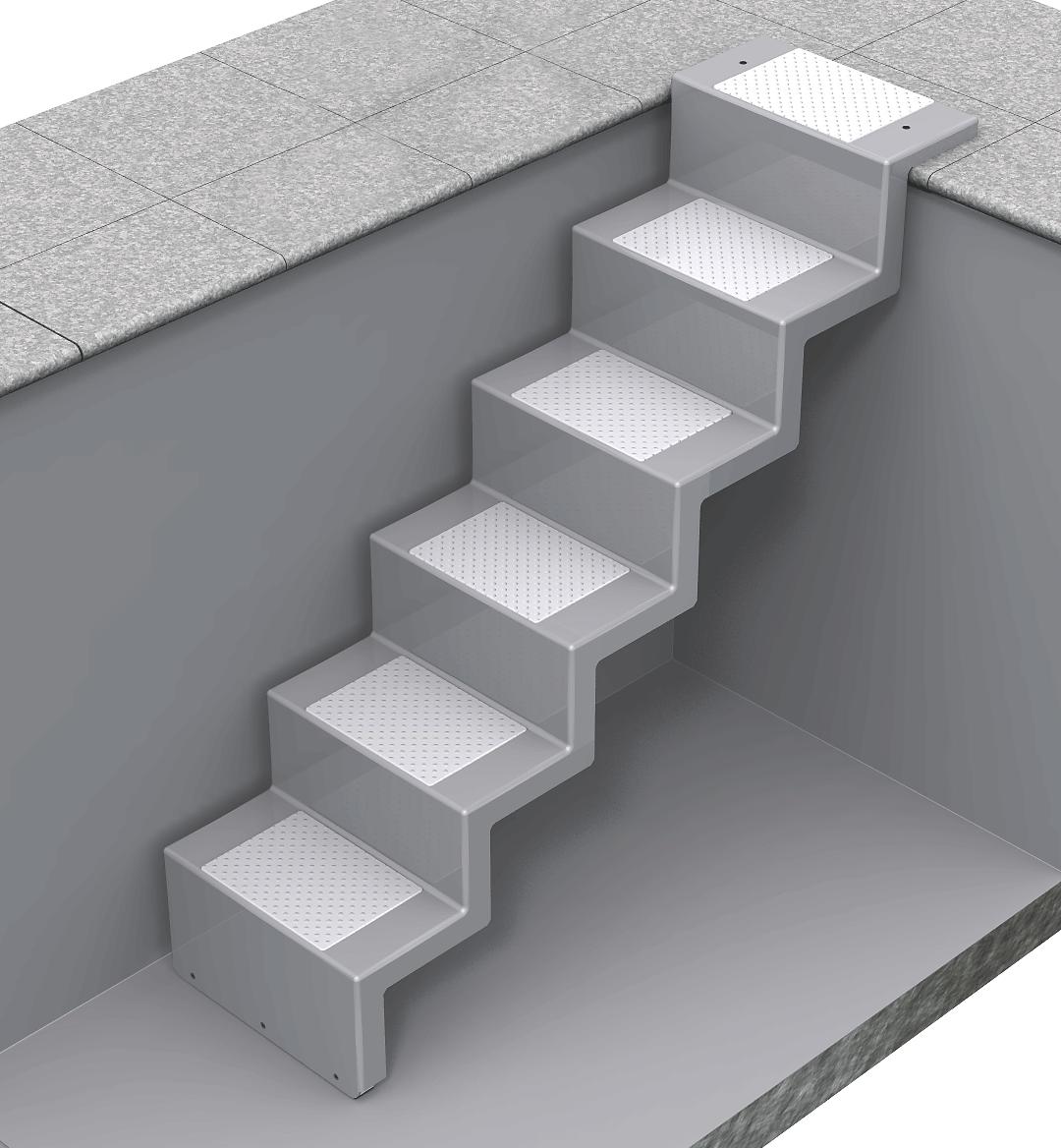 pool treppe holz