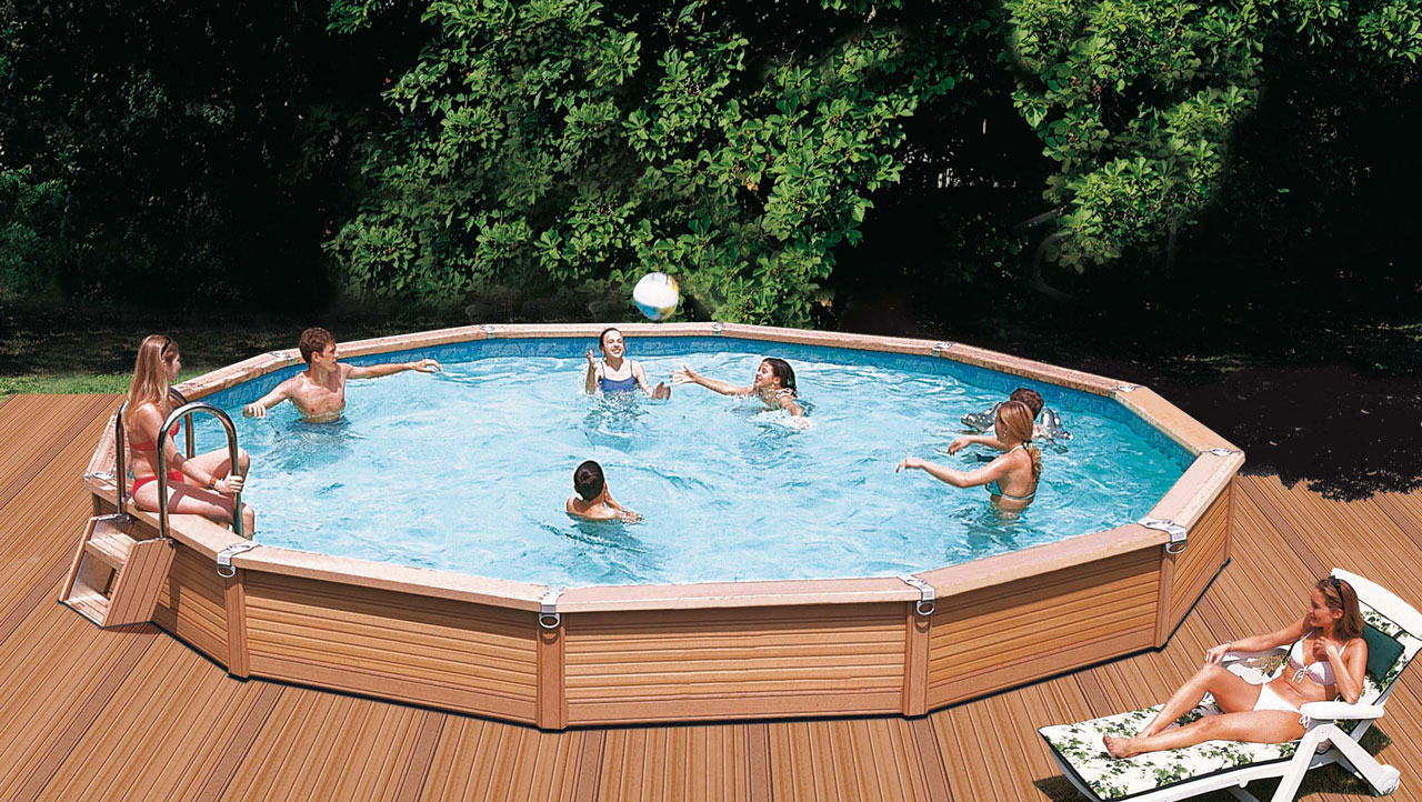 azteck pool rundformbecken holzpool komplettset sunday pools onlineshop. Black Bedroom Furniture Sets. Home Design Ideas