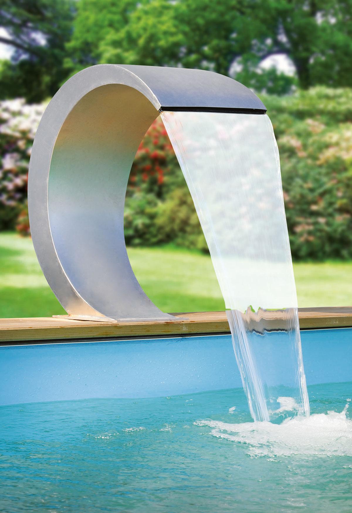 Schwalldusche mit led mamba sunday pools onlineshop for Wasserfall mamba