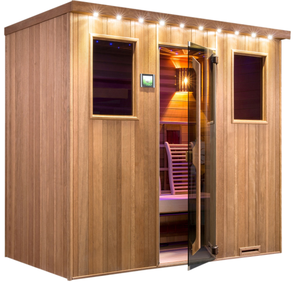 sauna infrarot kabine chaleur kombi sunday pools onlineshop. Black Bedroom Furniture Sets. Home Design Ideas