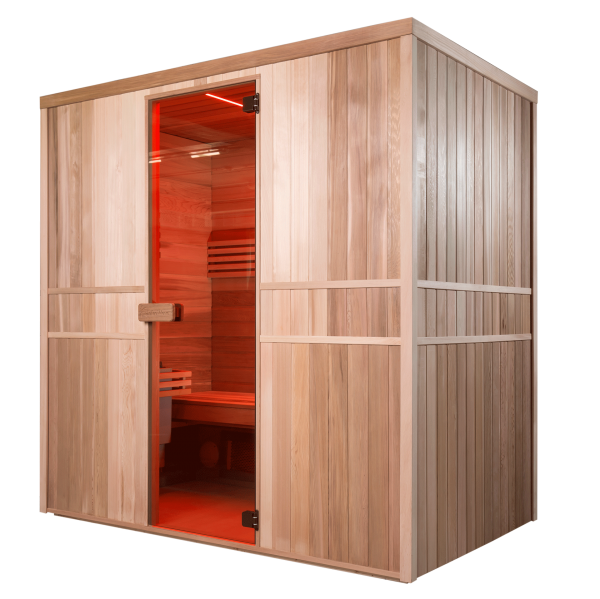 sauna infrarot kombikabine infrawave sunday pools. Black Bedroom Furniture Sets. Home Design Ideas